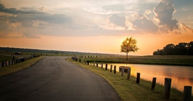 Nature-landscape-sunset-tree-road-river-fence-sky-clouds_1920x1200