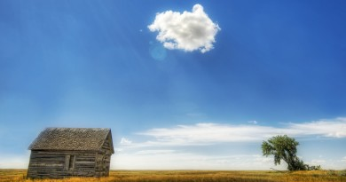Blue-Sky-And-Hut-Wallpaper_0