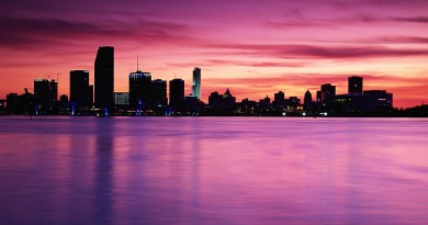 town-buildings-premises-sea-water-river-sky-pink-shine