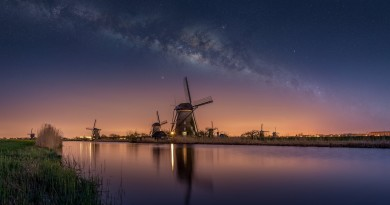 the-netherlands-night-sky-star-milky-way-windmills-channel-river-water