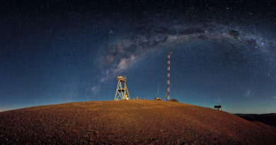 This night-time panorama shows Cerro Armazones in the Chilean desert, near ESO's Paranal Observatory, site of the Very Large Telescope (VLT). Cerro Armazones was chosen as the site for the planned European Extremely Large Telescope (E-ELT), which, with its 40-metre-class diameter mirror, will be the world's biggest eye on the sky. An amazing interactive virtual tour is available here This image is available as a mounted image in the ESOshop.