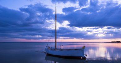 sky-clouds-sunset-sea-boat-nature-night